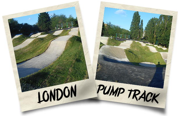 Dirtworks BMX London Pump Track Polaroid