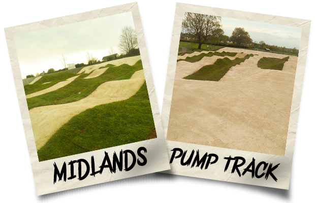 Dirtworks BMX Midlands Pump Track Polaroid