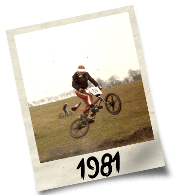 Dirtworks BMX's Phil Hudu Charnley Polaroid - 1981