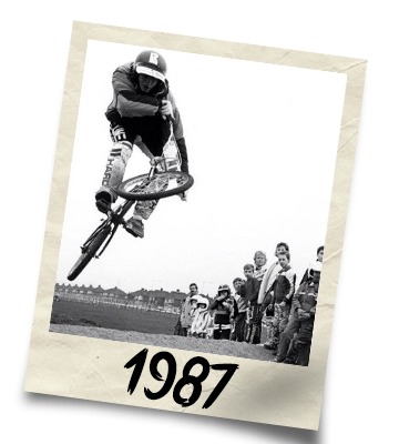 Dirtworks BMX's Phil Hudu Charnley Polaroid - 1987