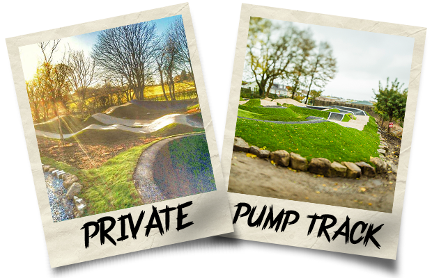 Dirtworks BMX Private Pump Track Polaroid